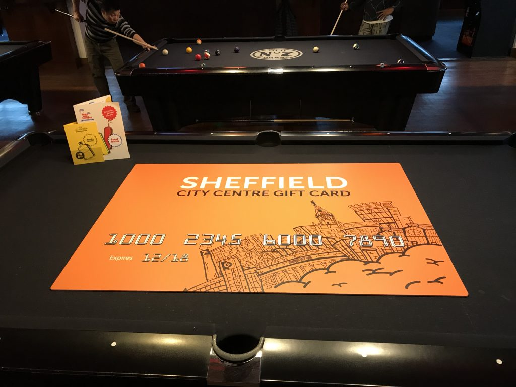 Sheffield Gift Card, The Common Room Sheffield